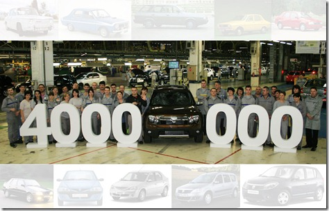 Dacia 4 million cars