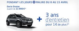 Dacia Jours Malins 2017